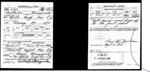 1918 Constantine Maciejewski WWI draft registration