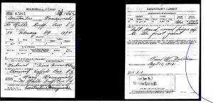 1918 Constantine Maciejewski WWI draft registration