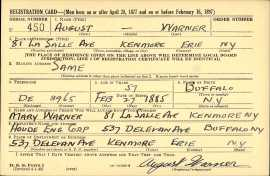 1942 August Warner WWII draft registration