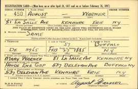 1942 August Warner WWII draft registration