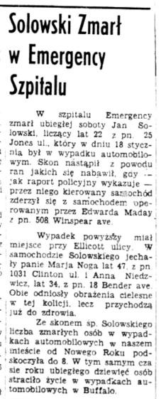 1939 Jan Solowski 13 Feb Dziennik article