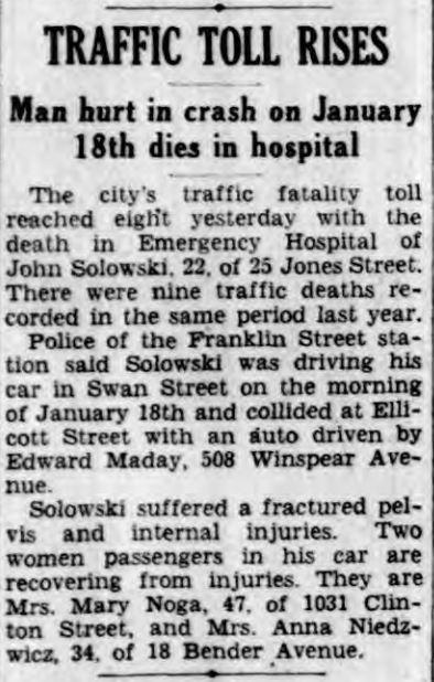 1939 John Solowski Buffalo NY Courier Express 1939-2-12