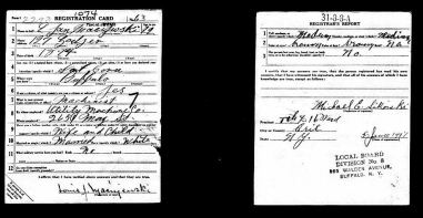 1918 Louis Jan Maciejewski WWI draft registration