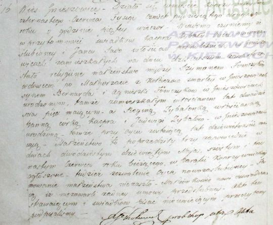 1852 Tomczyk - Zybala marriage