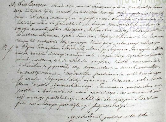 1853 Witon - Tomczyk marriage