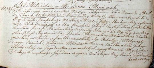 1820 Tomasz Witon Regina Sadowa marriage part 1