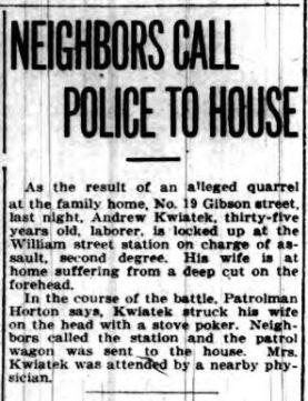 1915 Kwiatek assault Buffalo Courier