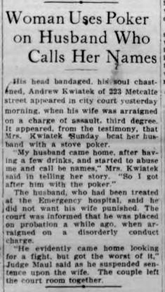 1917 Kwiatek assault Buffalo Courier