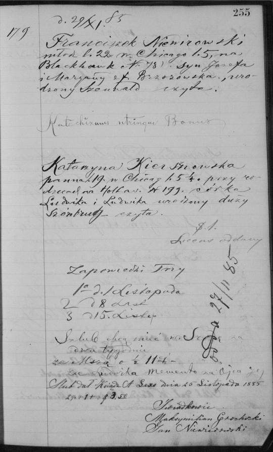 1885 marriage record Niewirowski Kiersznowski.jpg