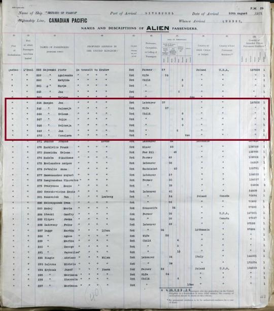 1921 Rzepka to Poland marked