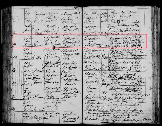 1872 Franz Maciejewski birth marked