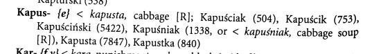 name Kapus
