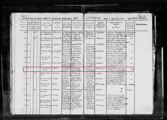 1848 Joseph Klein Birth marked