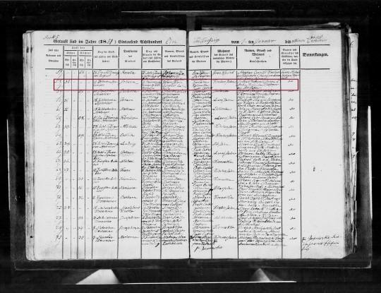1851 Johann Klein marked
