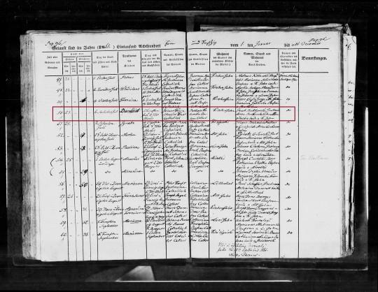 1861 Benedict Klein marked