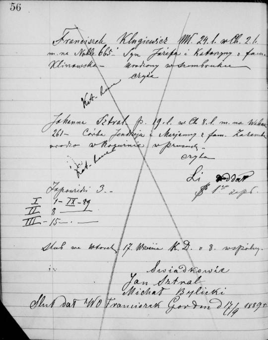 1889 Klugiewicz Sztral marriage close